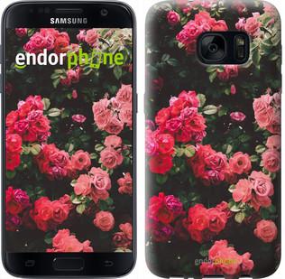 Чехол на Samsung Galaxy S7 G930F Куст с розами