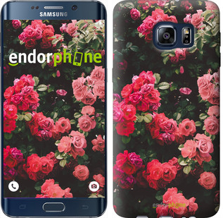 Чехол на Samsung Galaxy S6 Edge Plus G928 Куст с розами