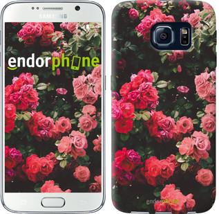 Чехол на Samsung Galaxy S6 G920 Куст с розами
