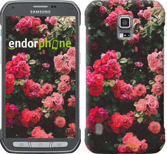 Чехол на Samsung Galaxy S5 Active G870 Куст с розами