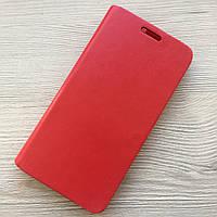 Чехол-книжечка на магните под кожу Samsung Galaxy А5 A500 2015 красный в упаковке