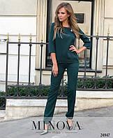 Стильний зручний  жіночий костюм зелений  розмір 42 44 46 48