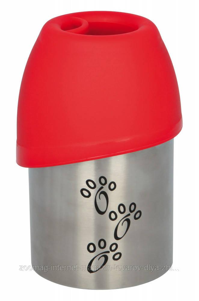 Поилка дорожная металлическая для собак, 300мл, Trixie™