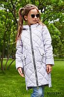 Детское демисезонное пальто Жаклин для девочки (рост 28-42)