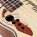 Электроакустическое укулеле сопрано Ammoon + 2 медиатора, фото 7