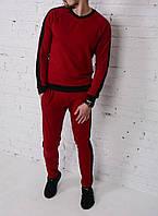 Спортивный костюм мужской Baterson Red. Топ реплика. Живое фото
