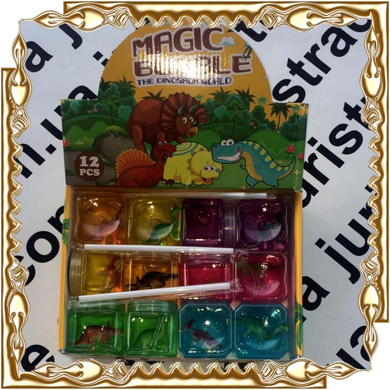 "Лизуны (жвачка) ""Мир Динозавров"" Magic Bubble The Dinosaur World 12 шт./уп. № А788 / 6809"