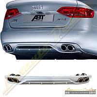 Диффузор стиль ABT Audi A4 2008-12, фото 1