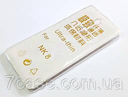 Чехол для Nokia 8 силиконовый ультратонкий прозрачный