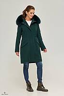 Зимняя женская кашемировая парка-пальто П-58, фото 1