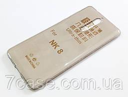 Чехол для Nokia 8 силиконовый ультратонкий прозрачный серый