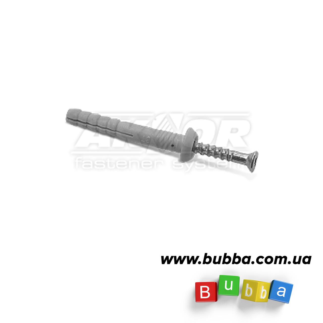 Дюбель с шурупом для быстрого монтажа 6*40 мм Полукруглый ворот