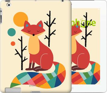 Чехол на iPad 2/3/4 Rainbow fox