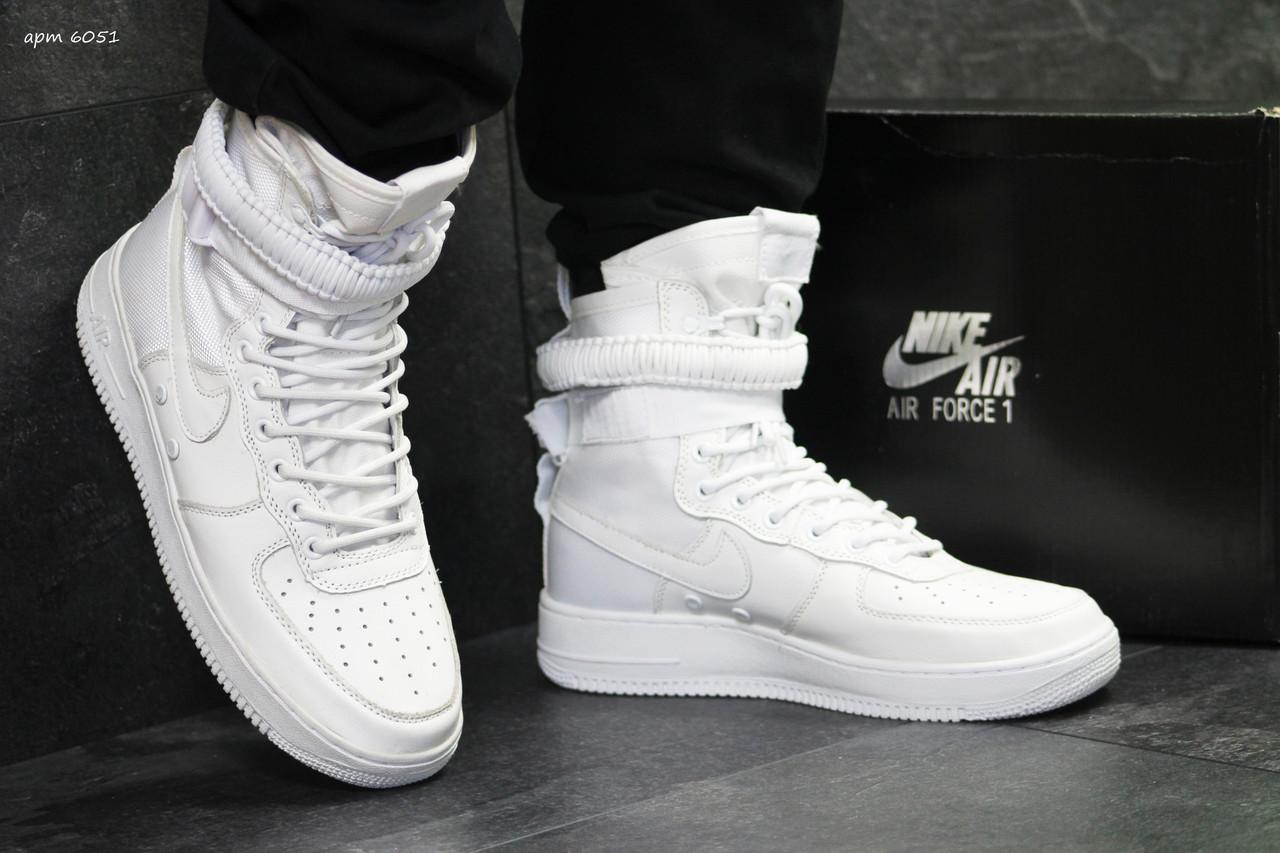 92efd7116c03 Купить Мужские кроссовки Nike Air Force af 1 белые ( качественная ...