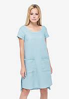Бірюзове лляне плаття, фото 1