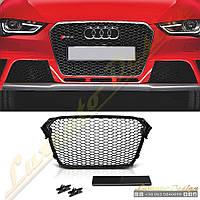 Решетка радиатора стиль RS4 для Audi A4 2012-16, фото 1