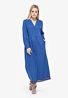 Синее платье с кружевом, фото 1