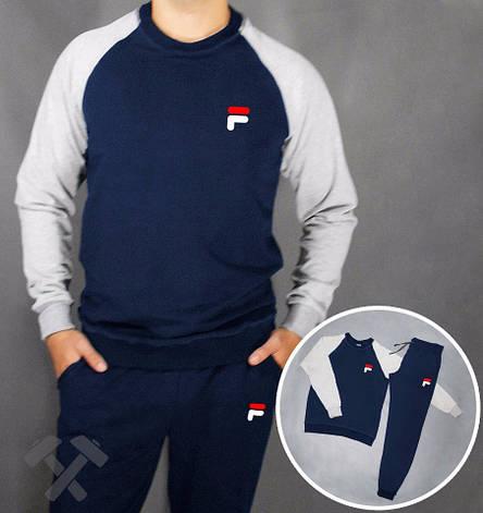 Спортивный костюм мужскойFila, Фила, серо-синий (в стиле), фото 2