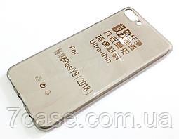 Чехол для Huawei Y9 (2018) / Enjoy 8 Plus силиконовый ультратонкий прозрачный серый