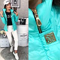 Куртка женская зима модель 211/2 бирюзовый