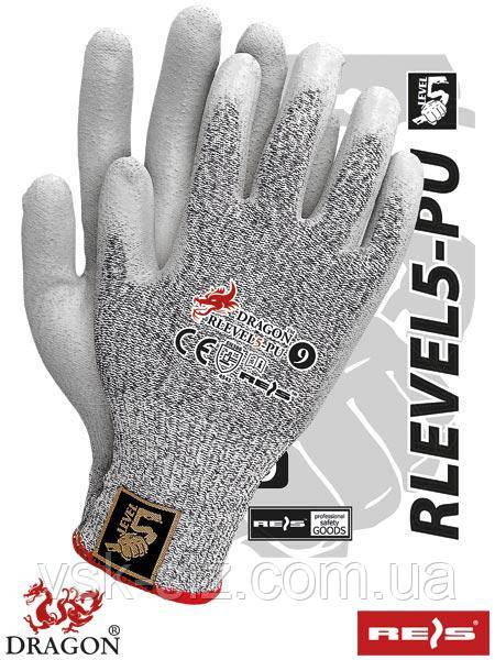 Защитные рукавицы REIS RLEVEL5-PU.