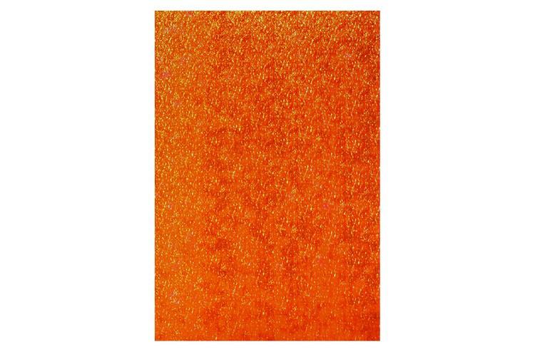 Фоамиран оранжевый перламутровый, 20*30 см, толщина 1,5 мм, Китай, ООПТ, 7643, 145372