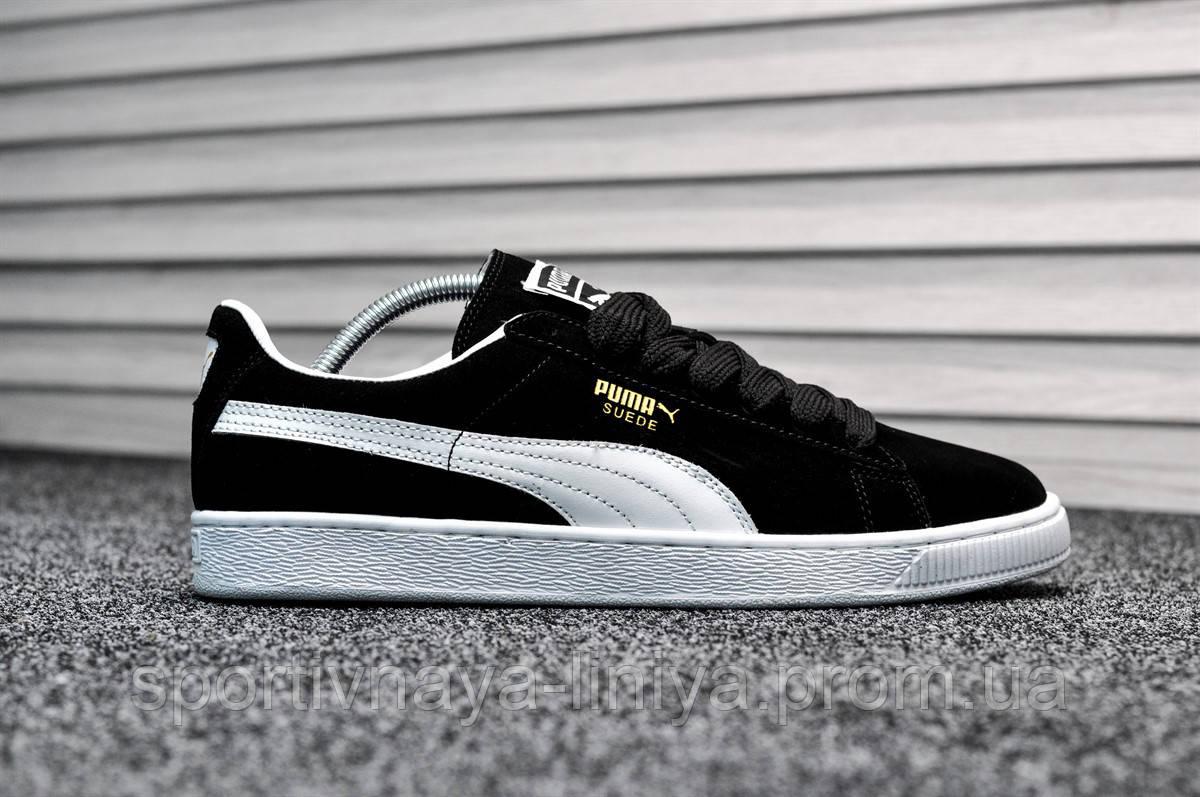 Кроссовки мужские черные Puma Suede Classic (реплика)