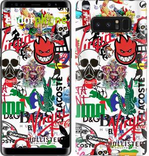 Чехол на Samsung Galaxy Note 8 Many different logos