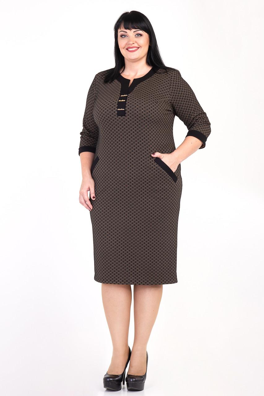 """Платье женское """"Сара"""" больших размеров (М353)"""