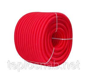 Гофротруба защитная d24/28 (для труб 20), красная (бухт. 50м.)