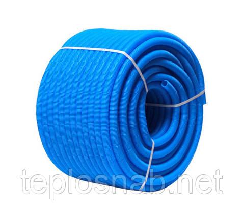 Гофротруба защитная d24/28 (для труб 20), синяя (бухт. 50м.), фото 2