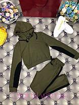 Костюм штаны и укороченная кофта с лампасами и капюшоном, фото 3