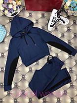 Костюм штаны и укороченная кофта с лампасами и капюшоном, фото 2