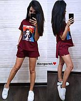 Костюм шорты и свободная кофта с нашивкой девочка, фото 2