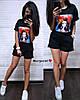 Костюм шорты и свободная кофта с нашивкой девочка, фото 6