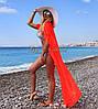 Длинная пляжная накидка на купальник из шифона, фото 2