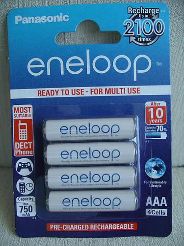Panasonic Eneloop 800mah аккумулятор AAA,4 штуки в блистере