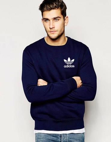 Мужская спортивная кофта (спортивный свитшот) Adidas, Адидас, темно-синяя (в стиле), фото 2