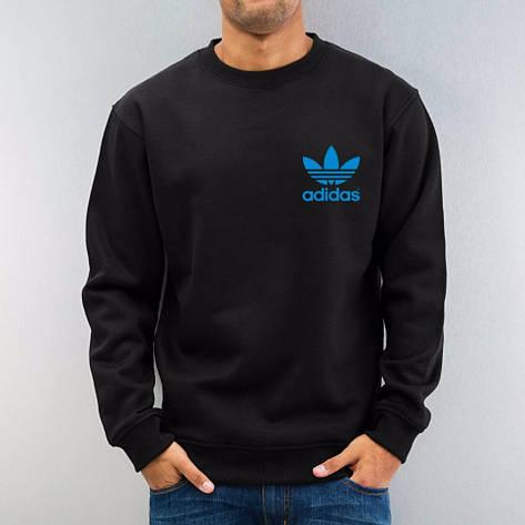 Мужская спортивная кофта (спортивный свитшот) Adidas, Адидас, черная (в стиле), фото 2