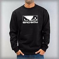 Мужская спортивная кофта (спортивный свитшот) Bad Boy, Бад Бой, черная (в стиле)
