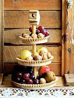 Деревянная фруктовница