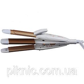 Керамический стайлер плойка PROMOZER 3в1 Утюжок гофре щипцы для укладки волос., фото 2