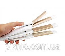 Керамический стайлер, плойка PROMOZER 3 в 1. Утюжок, гофре, щипцы для укладки волос.