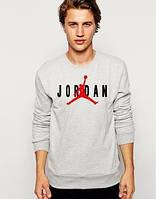 Мужская спортивная кофта (спортивный свитшот) Jordan, Джордан, серая (в стиле)