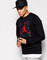 Мужская спортивная кофта (спортивный свитшот) Jordan, Джордан, черная (в стиле)