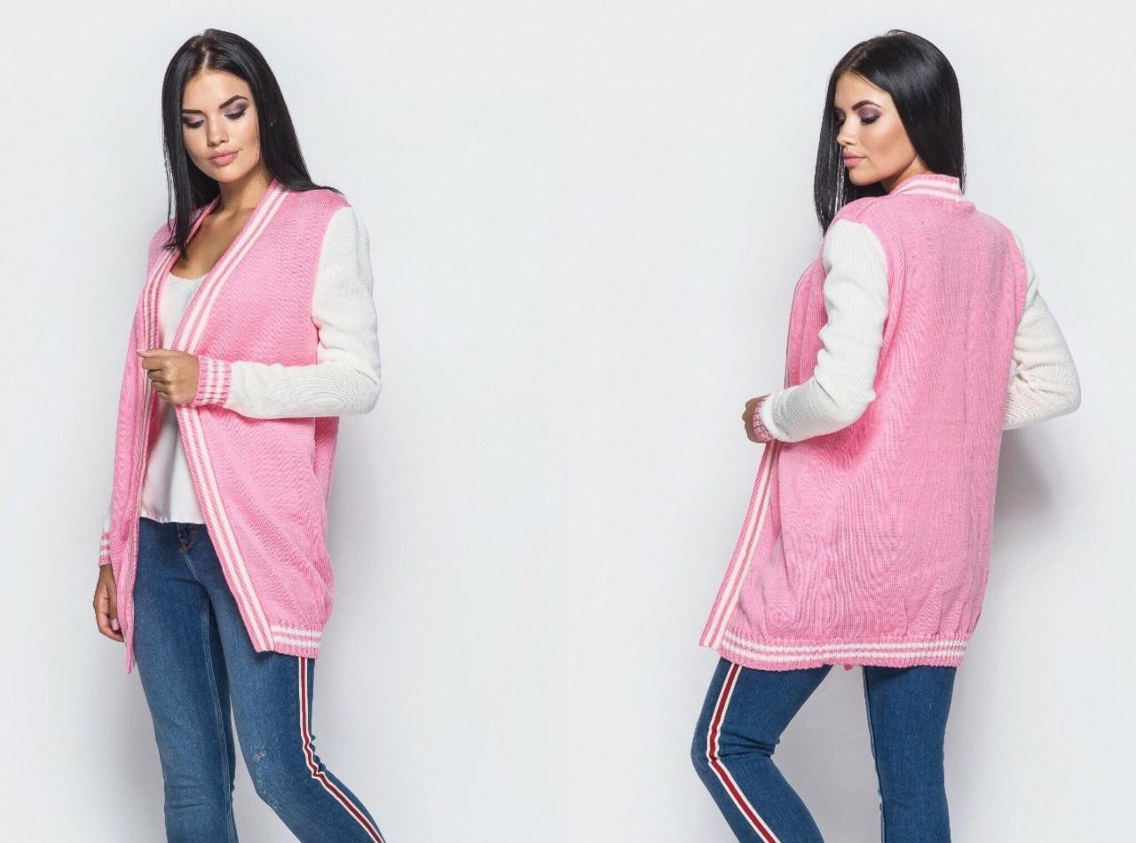 94d32ba86 Кардиган Кристин 42-46 розовый: продажа, цена в Харькове. свитеры и ...