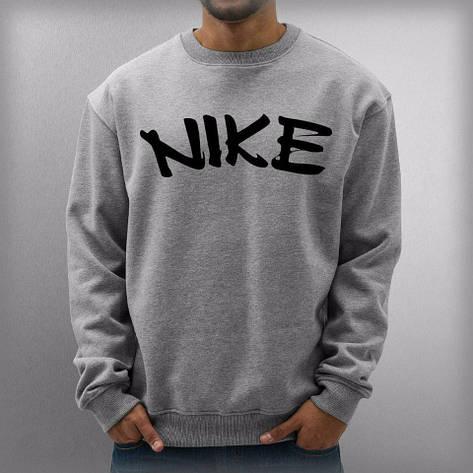 Мужская спортивная кофта (спортивный свитшот) Nike, найк, серая (в стиле), фото 2