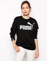 Мужская спортивная кофта (спортивный свитшот) Puma, пума, черная (в стиле)