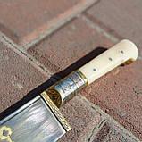 Узбекский классический нож с рукоятью из кости, фото 2