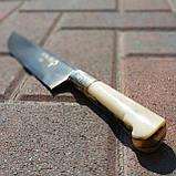 Узбекский классический нож с рукоятью из кости, фото 3